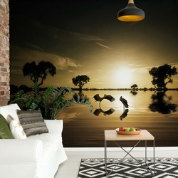 Reflections In The Lake Photo Wallpaper Mural