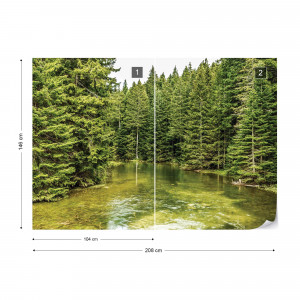 River Forest Nature Photo Wallpaper Wall Mural