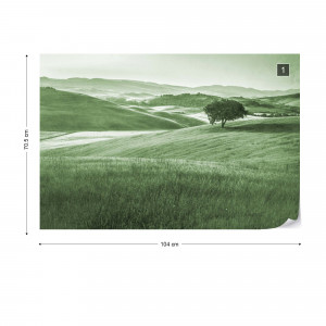 Rolling Hills Faded Vintage in Green
