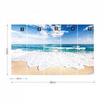 Sea And Sand Beach Photo Wallpaper Wall Mural