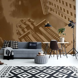 Sepia City Architecture Photo Wallpaper Wall Mural