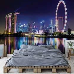 Singapore City Skyline Photo Wallpaper Wall Mural