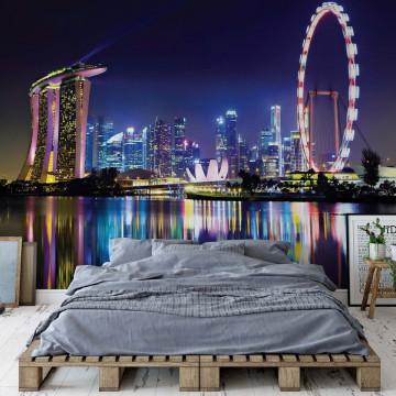 Singapore City Skyline Photo Wallpaper Wall Mural
