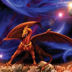 Space Dragon Photo Wallpaper Wall Mural