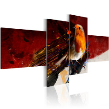 Tablou - A little bird on four parts