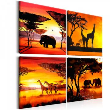 Tablou - African Animals (4 Parts)