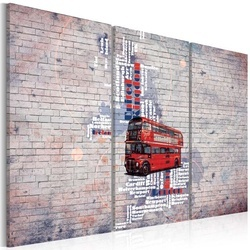 Tablou - Around the Great Britain by Routemaster - triptych