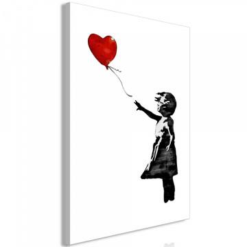Tablou - Banksy: Girl with Balloon (1 Part) Vertical