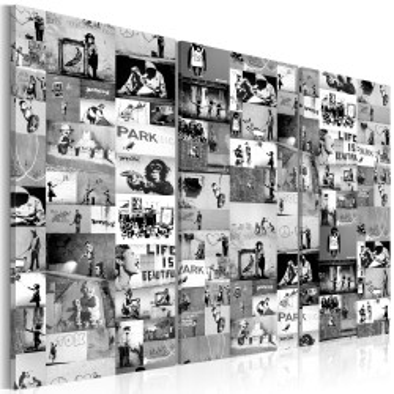 Tablou - Banksy: Graffiti Collage III