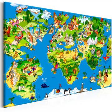 Tablou - Children's Map (1 Part) Wide