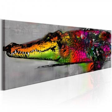 Tablou - Colourful Alligator