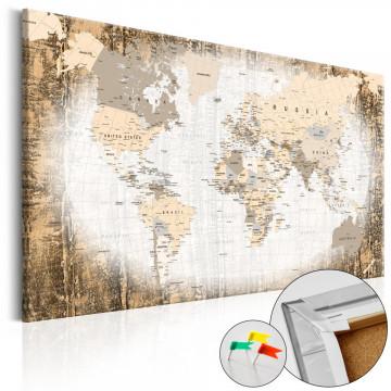 Tablou din plută - Enclave of the World [Cork Map]
