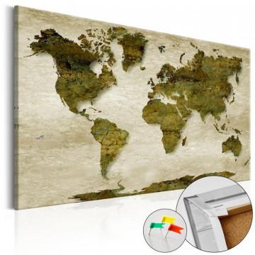 Tablou din plută - Forest Planet [Cork Map]