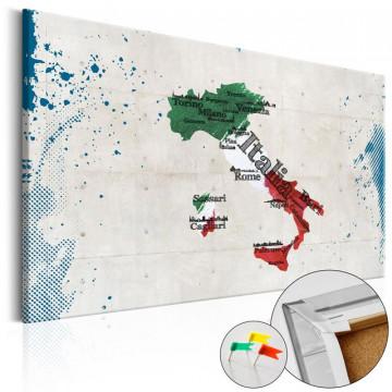 Tablou din plută - Italy [Cork Map]