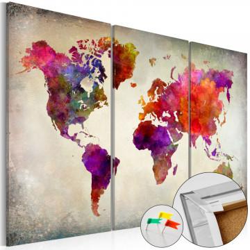 Tablou din plută - Mosaic of Colours [Cork Map]