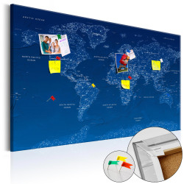 Tablou din plută - World Map: World Connection [Cork Map]