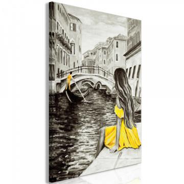 Tablou - Far Dreams (1 Part) Vertical Yellow