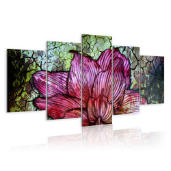 Tablou - Flowery stained glass
