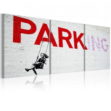 Tablou - Girl on a swing (Banksy)