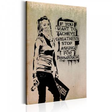 Tablou - Graffiti Slogan by Banksy