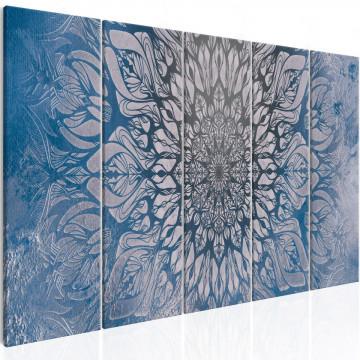 Tablou - Hypnosis (5 Parts) Blue Narrow