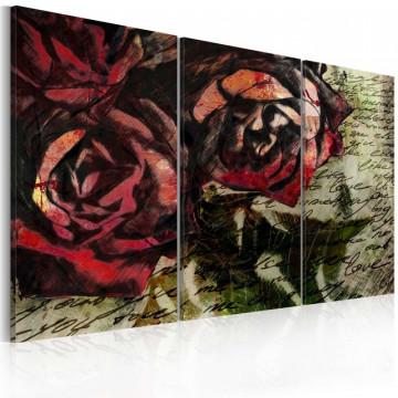 Tablou - Love letter - triptych