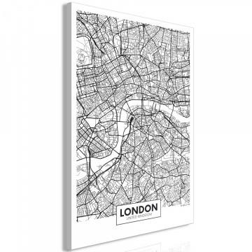 Tablou - Map of London (1 Part) Vertical