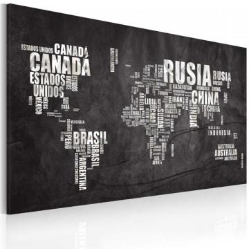 Tablou - Map of the World (Spanish language)