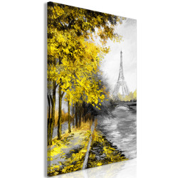 Tablou - Paris Channel (1 Part) Vertical Yellow