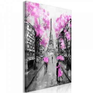 Tablou - Paris Rendez-Vous (1 Part) Vertical Pink