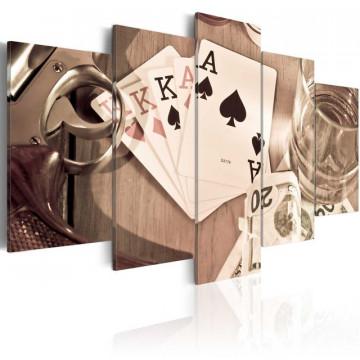 Tablou - Poker night - sepia