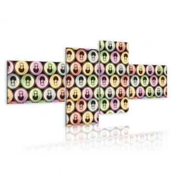 Tablou - Pop art- colorful cans