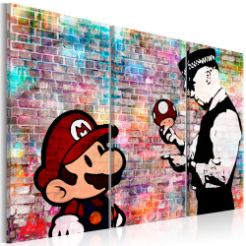 Tablou - Rainbow Brick (Banksy)