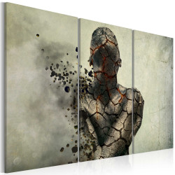 Tablou - The man of stone - triptych