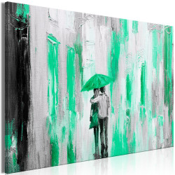 Tablou - Umbrella in Love (1 Part) Wide Green
