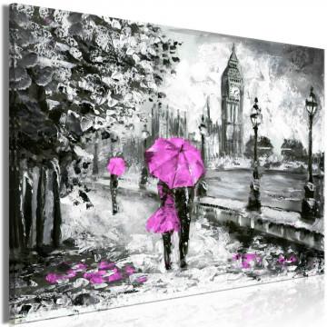 Tablou - Walk in London (1 Part) Wide Pink