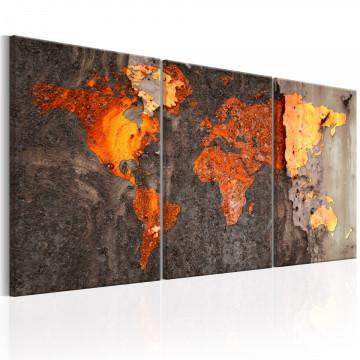 Tablou - World Map: Rusty World