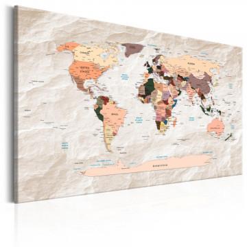 Tablou - World Map: Stony Oceans