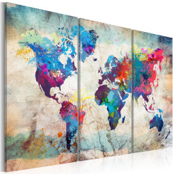 Tablou - World Maps: Modern Style
