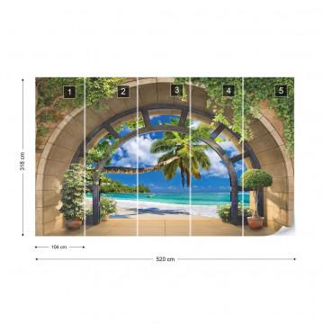 Tropical Beach Archway View Photo Wallpaper Wall Mural