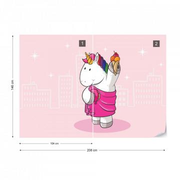 Unicorn Pink Photo Wallpaper Wall Mural