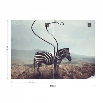 Zebra Stripes Photo Wallpaper Wall Mural