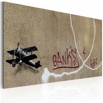 Tablou - Love plane (Banksy)