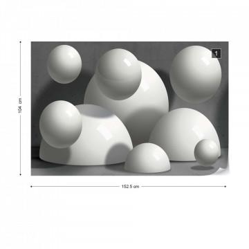 3D Abstract Design Balls Illusion Photo Wallpaper Wall Mural