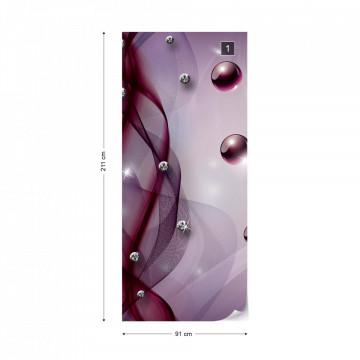 3D Modern Abstract Design Purple Photo Wallpaper Wall Mural