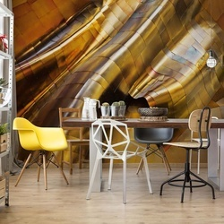 Abstract Steel Photo Wallpaper Mural