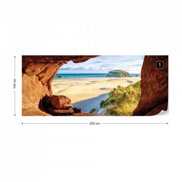 Beach Cave Photo Wallpaper Wall Mural