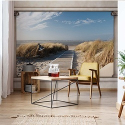 Beach Roman Column View Photo Wallpaper Wall Mural