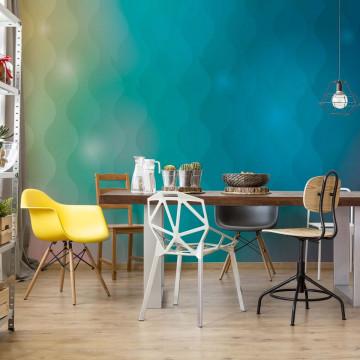Blue And Green Modern Gradient Photo Wallpaper Wall Mural