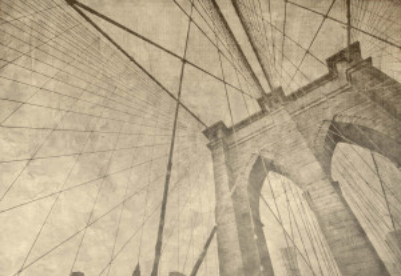 Brooklyn Bridge Grunge Sepia